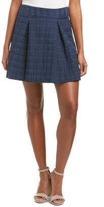 Nanette Lepore Roll It Linen-Blend Skirt
