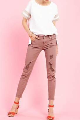 Easel Distressed Stretchy Pant