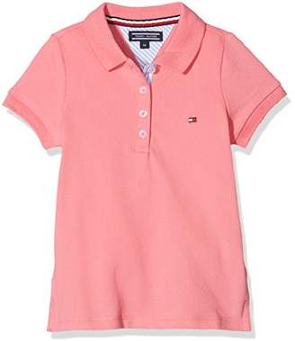 Tommy Hilfiger Girl's AME S Basic S/s Polo Shirt,(Manufacturer Size: 7)