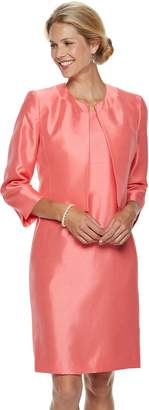 Le Suit Women's Sateen Open-Front Jacket & Dress Suit