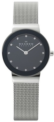Women's Skagen 'Freja' Mirror Bezel Mesh Strap Watch, 26Mm $105 thestylecure.com