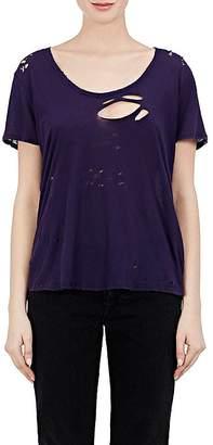 Taverniti So Ben Unravel Project Women's Distressed T-Shirt