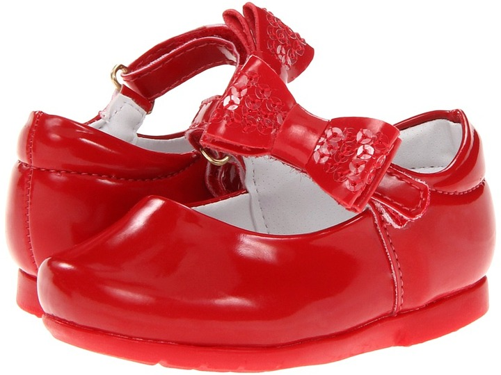 Pampili Angel 4692 (Infant/Toddler) (Red Fly) - Footwear