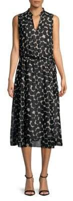 Jones New York Printed Fit-and-Flare Midi Dress