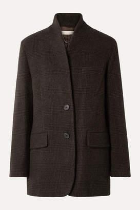 Vanessa Bruno Jovanka Checked Wool-blend Blazer - Dark brown