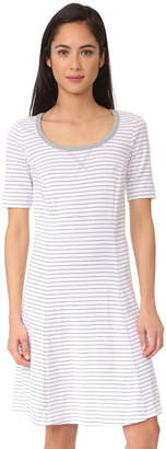 Three Dots Short Sleeve Stripe Dress $78 thestylecure.com