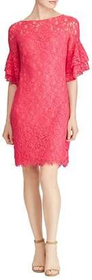 Lauren Ralph Lauren Ruffle-Sleeve Lace Dress