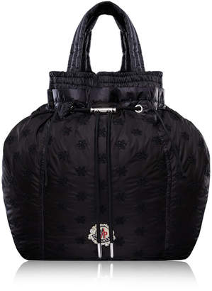 Simone Rocha Moncler 4 Parachute Drawstring Floral-Embroidered Shell Backpack