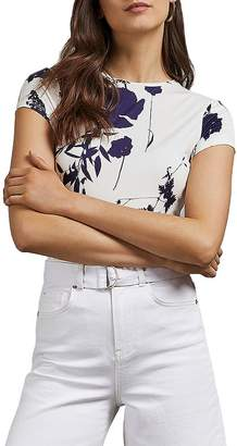 Ted Baker Miliyy Bluebell Floral-Printed Fitted Tee