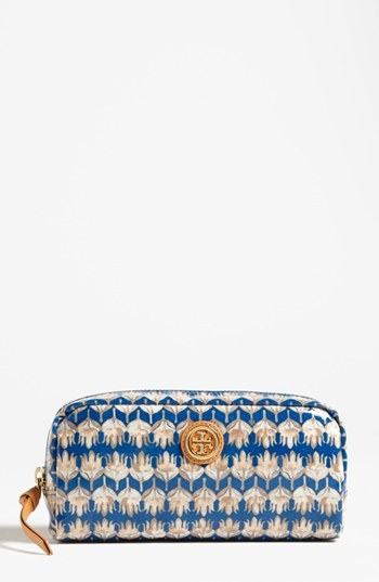 Tory Burch Cosmetics Case Evening Sky Floral One Size