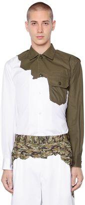 Patchwork Cotton Poplin Shirt $624 thestylecure.com