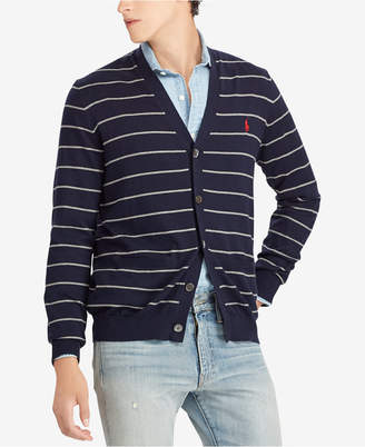 Polo Ralph Lauren Men Striped Regular Fit V-Neck Cardigan