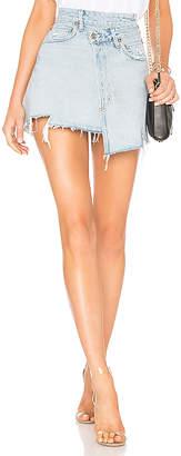 A Gold E AGOLDE Criss Cross Skirt.
