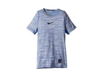 Nike Pro Short Sleeve Top HTR (Little Kids/Big Kids)