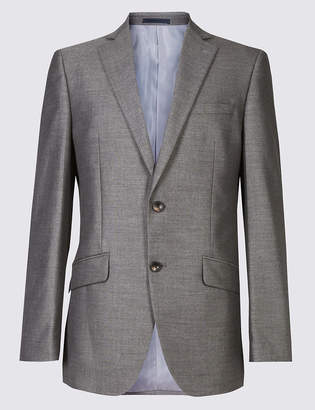 Marks and Spencer Big & Tall Grey Tailored Fit Jacket