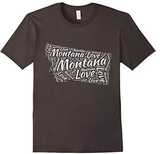 Love Montana Shirt Montana T-Shirt Graphic Word Tee Shirts