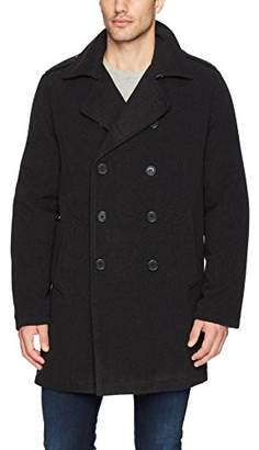 Excelled Men's Faux Wool 3/4 Length Peacoat