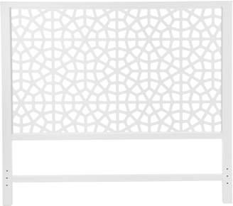 Zanui White & Wood Marrakesh Bed Head, White, Queen