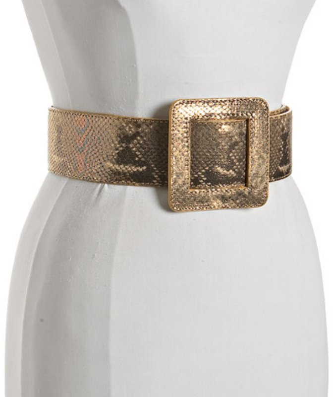 Giuseppe Zanotti gold snake print leather wide belt