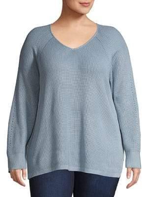 Calvin Klein Plus Classic Textured Sweater