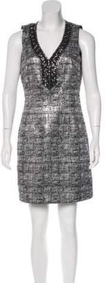 Laundry by Shelli Segal Embellished Metallic Dress
