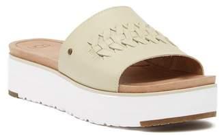 UGG Delaney Crisscross Platform Slide Sandal