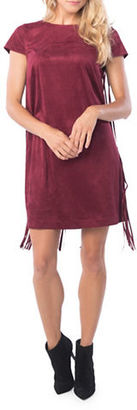 Kensie Fringed Faux Suede Shift Dress $99 thestylecure.com