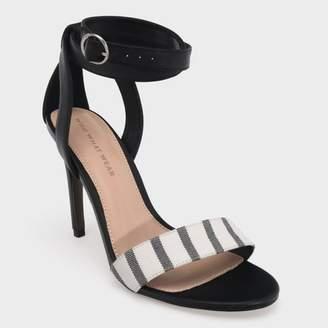 38df787fa9eaf Who What Wear Women's Sandra Striped Wrap Heeled Pumps