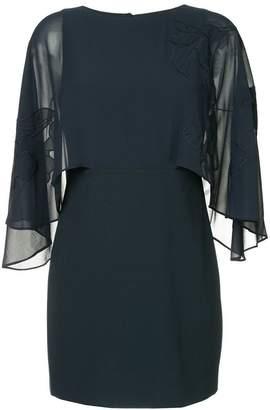 Halston oversized sleeve dress