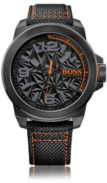 HUGO BOSS New York, Stainless Steel Textile Strap Watch 1513343 One Size Assorted-Pre-Pack