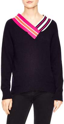 Sandro Stripe Neck Sweater