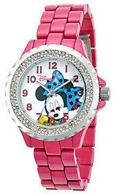 Disney Women's Pink Enamel Minnie Watch $59.99 thestylecure.com