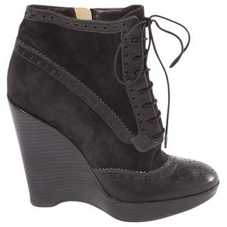 Cerruti Anthracite Suede Ankle boots