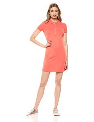2e4ec0df9 Lacoste Women s Classic Short Sleeve Stretch Mini Pique Polo Dress