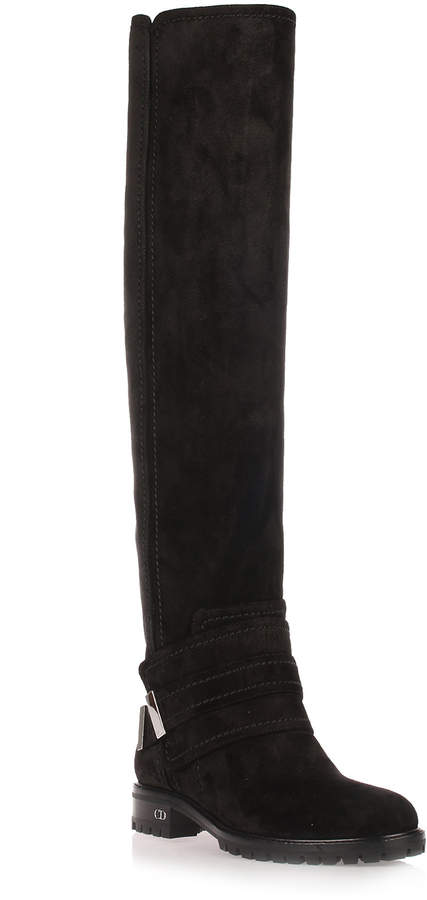 Dior Escape black suede over-the-knee-boot