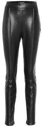 David Koma Leather and jersey leggings