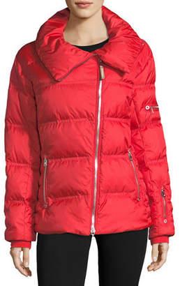 Bogner Sport Emma Asymmetric-Zip Quilted Puffer Coat