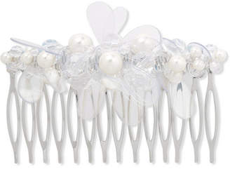 Simone Rocha Silver-tone, Faux Pearl, Crystal And Pvc Hair Slide - White