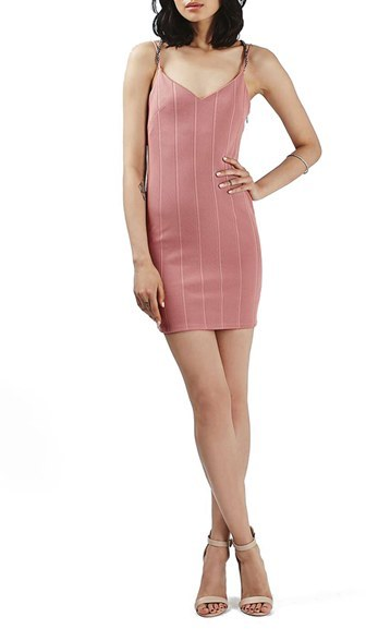 Topshop Plunge Chain Body-Con Dress