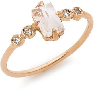 Jacquie Aiche 14k lapis petal diamond wrap open リング ローズゴールド 6.5