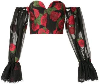 Bambah roses off shoulder corset