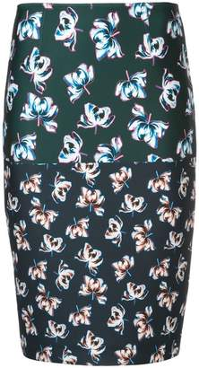 Yigal Azrouel floral printed pencil skirt