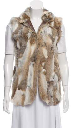 Adrienne Landau Fur Longline Vest