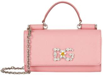Dolce & Gabbana Mini Embellished Von Cross Body Bag
