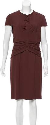 Burberry Ruched Midi Dress