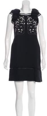 Giamba Embroidered Mini Dress Black Embroidered Mini Dress