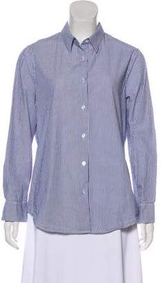 Barneys New York Barney's New York Striped Button-Up Top