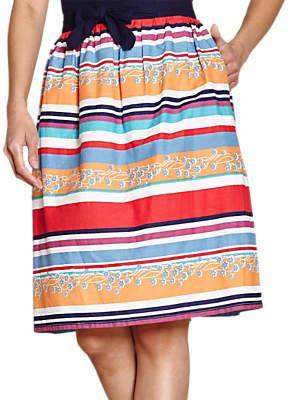 Yumi Colourful Stripe Skirt, Multi