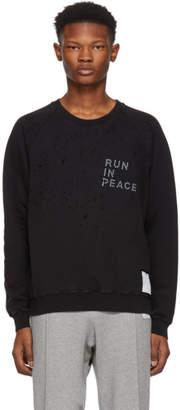 Satisfy Black R.I.P. Moth Eaten Sweatshirt