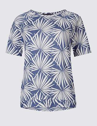 Marks and Spencer Printed Raglan Short Sleeve T-Shirt
